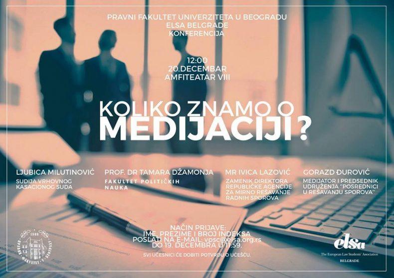 ELSA organizuje konferenciju o medijaciji