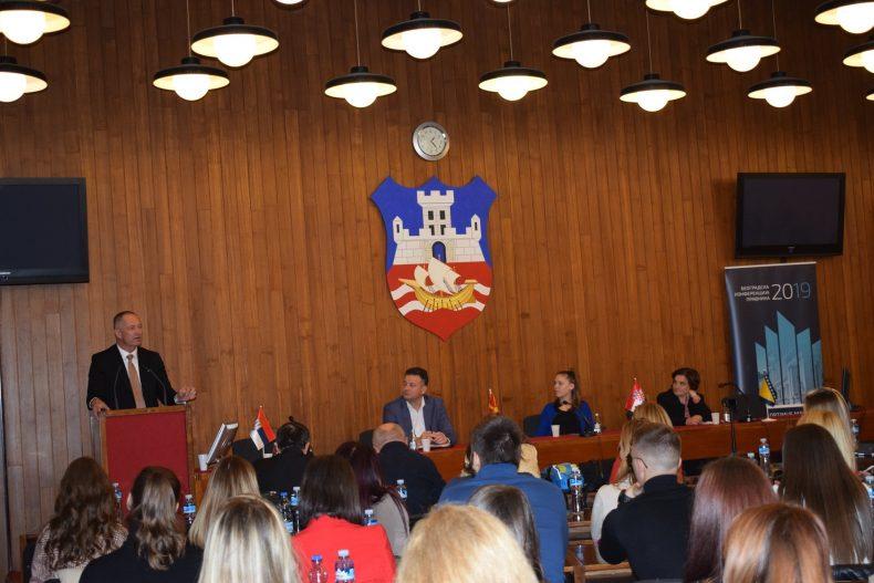 Blažo Nedić, Zoran Vučev, Suzana Fugaj i Orleanka Nikodinović – Međunarodni seminar o medijaciji